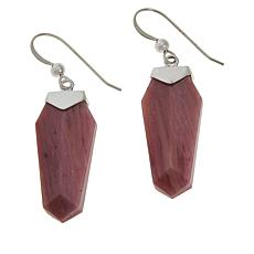 Jay King Sterling Silver Mauvewood Jasper Drop Earrings