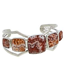 Jay King Sterling Silver Mexican Crazy Lace Agate Cuff