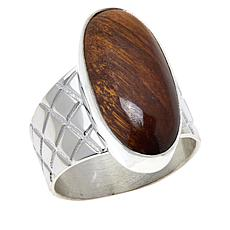 Jay King Sterling Silver Mt. Brockman Jasper Oval Ring