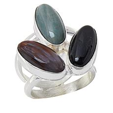 Jay King Sterling Silver Multi-Color Petrified Wood Ring