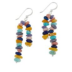 Jay King Sterling Silver Multi-Gemstone 2-Strand Drop Earrings
