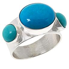 Jay King Sterling Silver Multi-Turquoise 3-Stone Ring