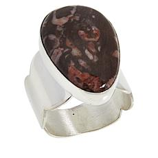 Jay King Sterling Silver Ocean Calcite Pear Ring
