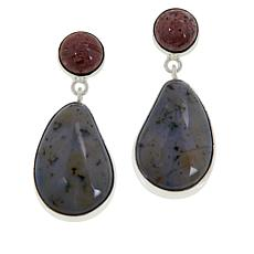 Jay King Sterling Silver Orbicular Chalcedony Drop Earrings