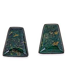 Jay King Sterling Silver Peacock Green Serpentine Earrings