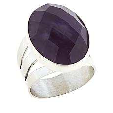 Jay King Sterling Silver Purple Twilight Chalcedony Oval Ring
