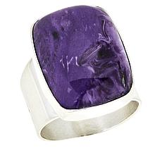 Jay King Sterling Silver Rectangular Charoite Ring