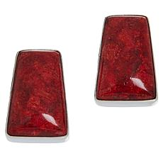 Jay King Sterling Silver Red Coral Earrings