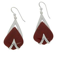 Jay King Sterling Silver Red Moss Jasper Earrings