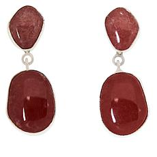 Jay King Sterling Silver Rhodochrosite Freeform Drop Earrings