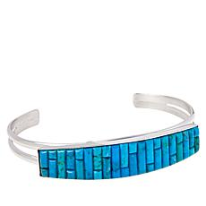 Jay King Sterling Silver Royal Blue Turquoise Inlay Cuff Bracelet