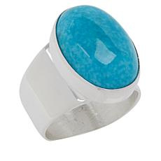 Jay King Sterling Silver Royal Blue Turquoise Oval Ring