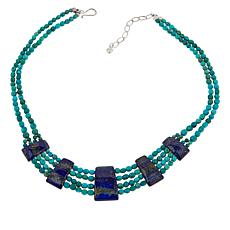 Jay King Sterling Silver Seven Peaks Turquoise and Lapis Necklace