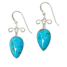 Jay King Sterling Silver Sonoran Blue Turquoise Drop Earrings