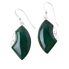 Jay King Sterling Silver Swazi Green Stone Quartz Drop Earrings