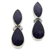 Jay King Sterling Silver Tanzanite Drop Earrings