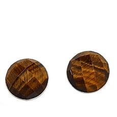 Jay King Sterling Silver Tiger's Eye Stud Earrings