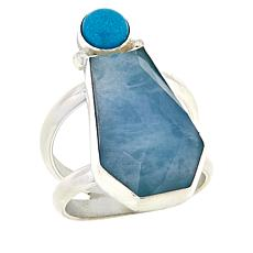 Jay King Sterling Silver Turquoise and Aquamarine Ring