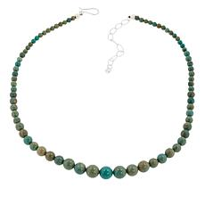 Jay King Sterling Silver Turquoise Hill Beaded Necklace