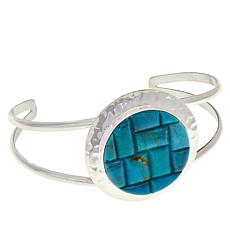 Jay King Sterling Silver Turquoise Inlay Cuff Bracelet