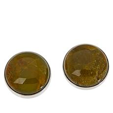 Jay King Sterling Silver Volcanic Opal Round Stud Earrings