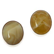Jay King Sterling Silver Yellow Sonoran Opal Oval Earrings