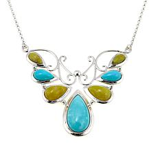 "Jay King Turquoise and Green Opal Butterfly 24-1/4"" Necklace"