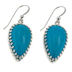 Jay King Turquoise Hill Turquoise Pear Drop Sterling Silver Earrings