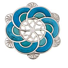 Jay King Turquoise Inlay Sterling Silver Pendant