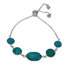 Jay King Tyrone Turquoise Adjustable Sterling Silver Bracelet