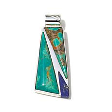 Jay King Tyrone Turquoise and Lapis Inlay Pendant