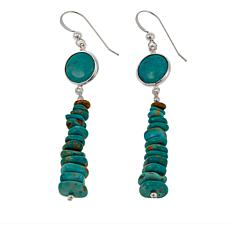 Jay King Tyrone Turquoise Chip Drop Sterling Silver Earrings