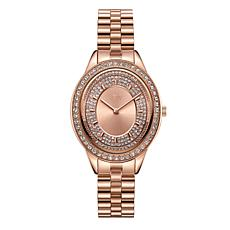 "JBW ""Bellini"" Women's Rosetone Diamond Bracelet Watch"