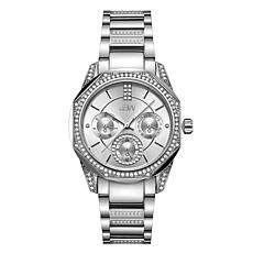 "JBW ""Marquis"" Silvertone Stainless Steel Women's 5-Diamond Watch"