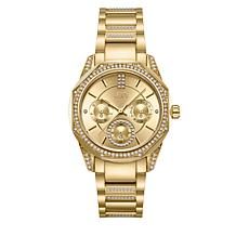 "JBW ""Marquis"" Women's Goldtone Stainless Steel 5-Diamond Watch"