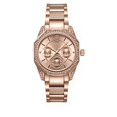 "JBW ""Marquis"" Women's Rosetone Stainless Steel 5-Diamond Watch"