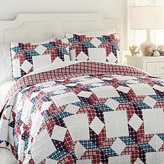 Jeffrey Banks Americana Patchwork 3-piece Quilt Set