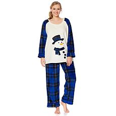 Jeffrey Banks Plush Pajama Set