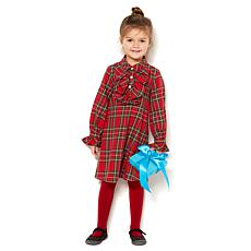 Jeffrey Banks Red Tartan Plaid Dress - Girls