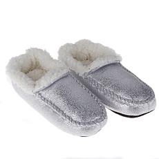 Jeffrey Banks Sherpa-Lined Metallic Moccasins