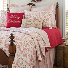 Jeffrey Banks Toile 2-piece Holiday Quilt Set - Twin