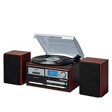 Jensen JTA-575 Stereo 3-Speed Turntable w/Radio, CD & Cassette Player