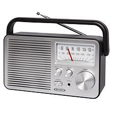 Jensen MR-750 Portable AM/FM Radio w/Built-in Speaker & Carry Handle