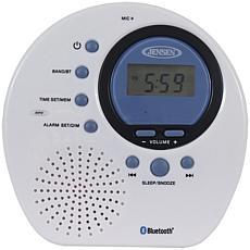 Jensen Water-Resistant Digital AM/FM Bluetooth Shower Clock Radio