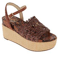 Jessica Simpson Camilia Woven Platform Wedge 2-piece Sandal