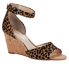 Jessica Simpson Cervena2 Haircalf Leather Wedge Sandal