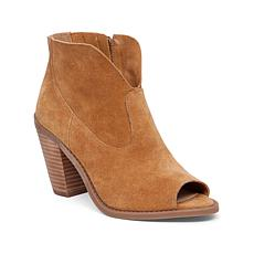"Jessica Simpson ""Chalotte"" Suede Open-Toe Bootie"