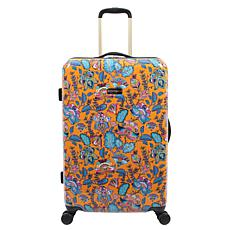 Jessica Simpson Floral Paisley 25-inch Hardside Spinner in Tumeric
