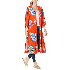 Jessica Simpson Gwendelin Printed Kimono Duster