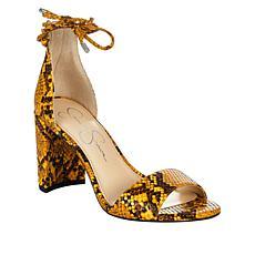 Jessica Simpson Nehah Snake-Print Block Heel Sandal